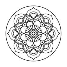 Quadro para Pintar Mandala 5 23cm