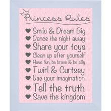 Quadro Princess Rules 23x29cm