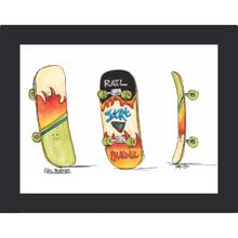 Quadro Skate 29x23cm