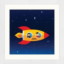 Quadro Space World 29x29cm