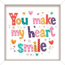 Quadro Star Heart Smile 24x24cm