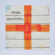 Quadro Think Positive 19x19cm