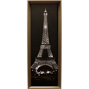 Quadro Torre Eiffel Preto E Branco 34x94cm Inspire