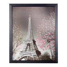 Quadro Torre Eiffel Preto e Branco com Moldura Preta 50x40cm