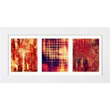 Quadro Trio Modern Red 51x100cm