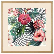 Quadro Tropical Flores 43x43cm