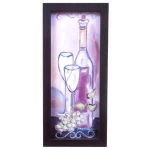 Quadro Vinho 29x14cm Kapos