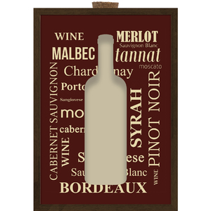 Quadro Vinho Porta Rolhas 29x39cm