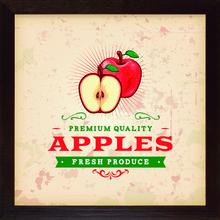 Quadro Vintage Apples 28x28cm