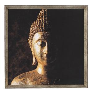 Quadro Zen Buda Ii Dourado 50x50cm Inspire