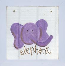 Quadro Zoo Elephant 24x24cm