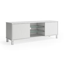 Rack Madeira Branco com Porta 120x40x52cm Glass P&C