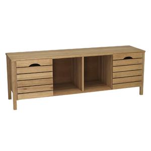 Rack Madeira Jatobá 150x52x40cm Wood Spaceo