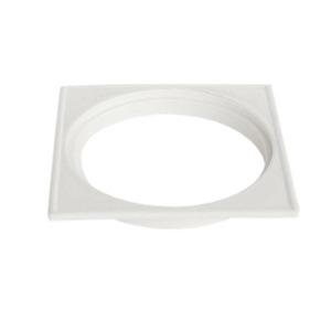 Ralo/ Grelha Plástico Branco Quadrado Sem fecho 10,7cm Plastilit