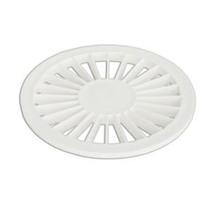 Ralo Pequeno Redondo Plastico Branco Plastilit