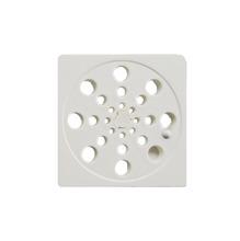 Ralo Quadrado Pequeno Plástico Branco Overtime