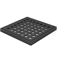 Ralo Quadrado Pequeno com Caixilho Preto Fosco Fani