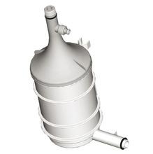 Refil Filtro Naturalis  Purificador Água Cozinha carvão ativado com prata coloidal Grau Filtragem 5-15 Micra Diâmetro 8,8 cm Altura 20,8 cm