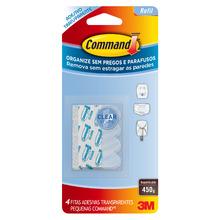 Refil para Ganchos Adesivos Pequeno Transparente 4 Unidades Command 3M