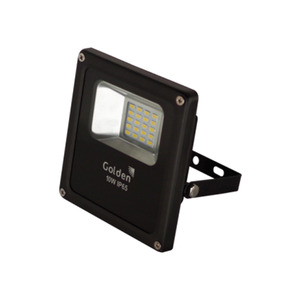 Refletor LED Golden Retangular Metal Preto 50W Bivolt