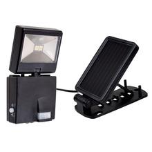 Refletor Solar LED Ecoforce Redondo Plástico Preto