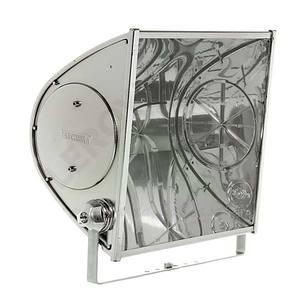 Refletor TD250 Alumínio 2 Lâmp. E27 Prata Taschibra