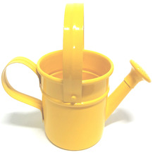 Regador Alumínio Tradicional 15x09cm Amarelo Sítios Planta
