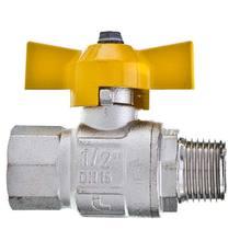 REGISTRO ESFERA P/REDE GAS 1/2 POL NPT 1/2 POL NPT MANOPLA BORBOLETA JACKWAL