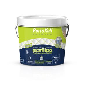 Rejunte Acrílico Cinza Platina 1Kg Portokoll