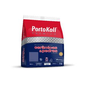 Rejunte Cimentício Cerâmica Castanho 4Kg Portokoll