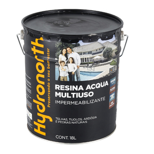 Resina brilhante multiuso acqua incolor 18l hydronorth for Mobiletti multiuso leroy merlin