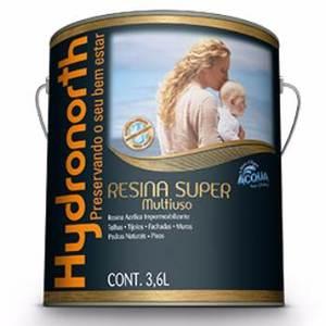 Resina Brilhante Multiuso Acqua Incolor 3,6L Hydronorth
