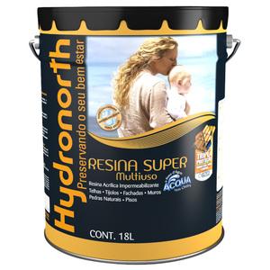 Resina Brilhante Super Multiuso Acqua Incolor 18L Hydronorth