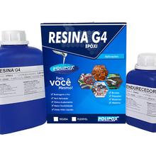 Kit Resina Epóxi Transparente Rígida Vidro Bicomponente líquido 1,45kg