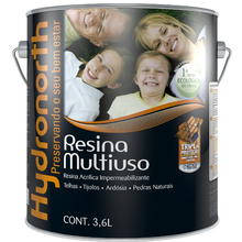 Resina Fosco Incolor 3,6L Hydronorth