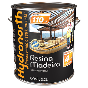 Resina madeira brilhante incolor 3 2l hydronorth leroy for Resina epoxi leroy merlin