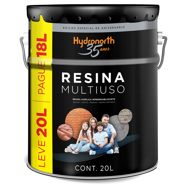 Resina multiuso base gua incolor 20l hydronorth leroy for Mobiletti multiuso leroy merlin