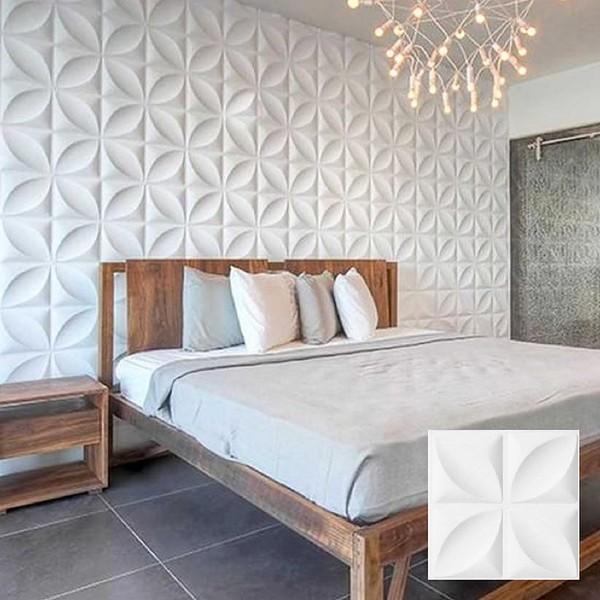 Revestimento 3d para parede de poliestireno veneza branco - Molduras de poliestireno leroy merlin ...