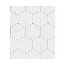 Revestimento Auto Adesivo Cubos Neutral 40x280cm Branco Inspire