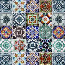 Revestimento Auto Adesivo Mosaico Colorido 15x15cm (cada) 25 peças Tac Decor