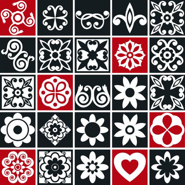 Kit de adesivos mosaico preto e branco 15x15cm 24 pe as for Leroy merlin mosaico decorativo