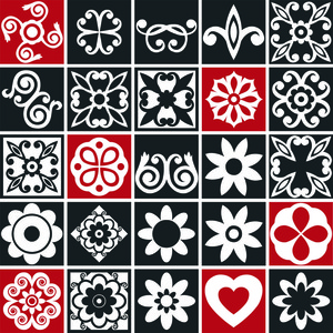 Kit de adesivos mosaico preto e branco 20x20cm 24 pe as for Leroy merlin mosaico decorativo