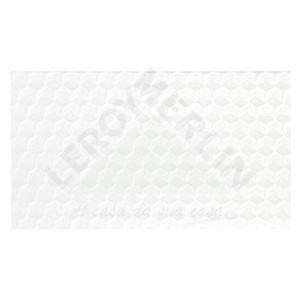Revestimento Brilhante Bold Texturizado Glacial White 32X56cm Séries Brasileiras Embramaco