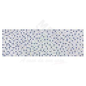 Revestimento Brilhante Bold Decorado Illusion Azul 20x60cm Pamesa