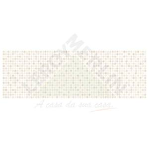 Revestimento Brilhante Bold Decorado Illusion Marfim 20x60cm Pamesa