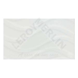 Revestimento Brilhante Bold Texturizado Thassos White 32X56cm Séries Brasileiras Embramaco