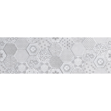 Revestimento de Parede Borda Reta Acetinado 30x90,2cm Kori Cement Patch Incepa