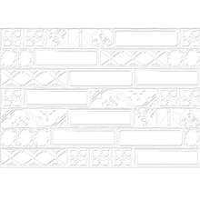Revestimento de Parede Borda Reta Acetinado Bisa Blanc 43,7x63,1cm Ceusa