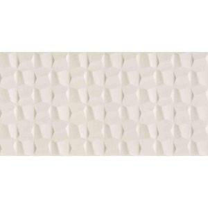 Revestimento de Parede Acetinado Borda Reta Cubic Perola 45x90cm Eliane