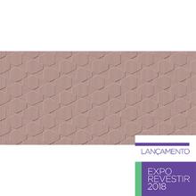 Revestimento de Parede Acetinado Borda Reta Canelado Rosa 43,2x91cm Ceusa